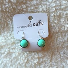 NWT Charming Charlie Mint Green Drop Earrings NWT! Super cute and perfect for spring and summer Charming Charlie Jewelry Earrings