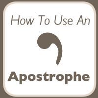 The Apostrophe. The apostrophe probably causes more grief than all of the other punctuation marks put together! The problem nearly always seems to stem from not understanding that the apostrophe ha…