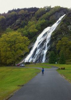 Powerscourt, the highest waterfall in Ireland. www.powerscourt.ie/waterfall #waterfall # powerscourt