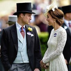 Kate Middleton and Prince William make first Royal Ascot appearance William Kate, Prince William And Catherine, William Arthur, Duke And Duchess, Duchess Of Cambridge, Principe William Y Kate, Princesa Kate Middleton, Beaux Couples, Prinz William
