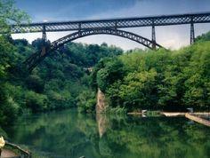 Bridge over the River Adda, at Paderno d'Adda.  Used to live 5 minute's walk from this.