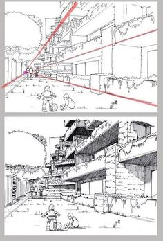 Error The photo The Effective Pictures We Offer You About Architecture perspective lumion Perspective Drawing Lessons, Perspective Sketch, One Point Perspective, Drawing Techniques, Drawing Tips, Drawing Sketches, City Drawing, Drawing Drawing, Comic Tutorial