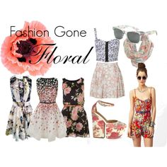 FLORALS, created by alexandrachellee on Polyvore