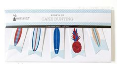 SURFS UP CAKE TOPPER BUNTING