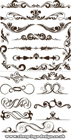 calligraphy swirl graphics for use with ornate logos www.cheap-logo-de... #ornatelogo #calligraphy #logocreation