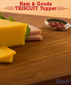 TRISCUIT Topper is not only delectable, but simply divine. Recipes Appetizers And Snacks, Finger Food Appetizers, Yummy Appetizers, Finger Foods, Desserts, Good Food, Yummy Food, Incredible Edibles, Holiday Dinner
