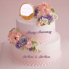Do you want to write name on wedding anniversary cake flowers with photo edit online? Happy anniversary cake images & flowers with your wife & husband name generator Happy Wedding Anniversary Quotes, Happy Marriage Anniversary Cake, Anniversary Cake With Photo, Wedding Anniversary Cakes, Happy Anniversary Wishes, Anniversary Surprise, Wedding Cake Images, Unique Wedding Cakes, Wedding Decor