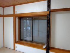 元は黄土色の塗り壁だった和室。白のじゅらくで塗り替えて、明るくなった。