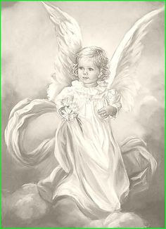 Beautiful little Angel. Fairy Coloring, Colouring Pics, Adult Coloring Pages, Coloring Books, Angel Images, Angel Pictures, Pencil Drawings, Art Drawings, Vintage Illustration