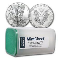 2013 1 oz #Silver Eagle SF Mint (20-Coin MintDirect® Tube) 1oz. .9999
