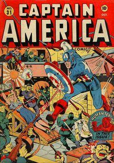 Captain America Comics # 31 by Alex Schomburg