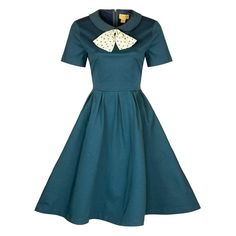 'Shelley' Vintage Inspired 1950's Peter Pan Collar Rockabilly Swing Jive Dress