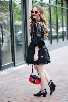 A Trendy Little Black Dress, LBD, outfit ideas, black dress, fashion blogger, Rachel Puccetti, Between Two Coasts blog