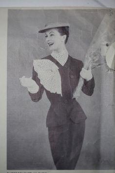 Vintage Paquin Vogue Couture Pattern cover photo, 1950's.