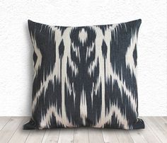 Ikat Pillow Covers Pillow Cover Black Throw Pillows by 5CHomeDecor