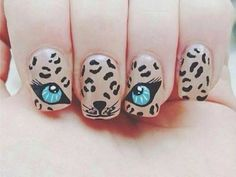 We love these fun animal nails! Come get a manicure and try spicing it up with a little nail art! Cheetah Nail Designs, Cheetah Nails, Cat Nails, Best Nail Art Designs, Leopard Eyes, Tiger Nails, Cheetah Face, Cheetah Print, Fancy Nails