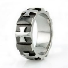 Stainless Steel Men's Cross Ring - Available Size: 8, 9, 10, 11, 12, 13 Tioneer. $39.99