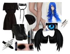 """""""outfit #29 (eyeless)"""" by eyeless-angel-of-death ❤ liked on Polyvore featuring CECILIE Copenhagen, Rick Owens, Dickies, Max Factor and NARS Cosmetics"""
