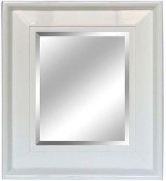 Yosemite Home Decor 26 In X 30 Rectangular White Decorative Framed Mirror Bathroom Mirrors