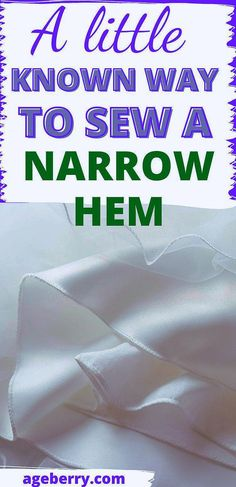 Sewing Hems, Serger Sewing, Basic Sewing, Sewing Basics, Sewing For Beginners, Hand Sewing, Serger Projects, Small Sewing Projects, Sewing Lessons