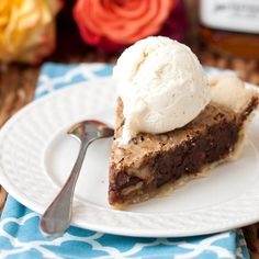 Thoroughbred Pie--is a different take on the famed Derby Pie. The differences are: it contains Walnuts instead of Pecans, and adds a healthy shot of Kentucky bourbon. The combination with chocolate and the caramel type center melts in your mouth, other than the Walnuts.