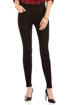 Black Pull On Tummy tuck Denim Pants at Laney Lu's Boutique Every woman needs these in her wardrobe.  Instantly look a size smaller, flattering fits, back pockets, no need for a tummy tuck or lipo when you own these jeans.  Perfect with heels or to tuck into boots. A must have fashion item in your closet!
