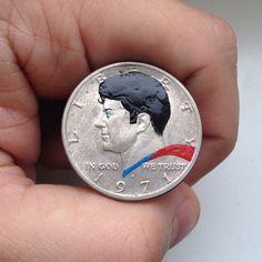 Do Designer Andre Levy, brasileiro que imprime ícones da cultura pop em moedas.http://goo.gl/viOEhJ