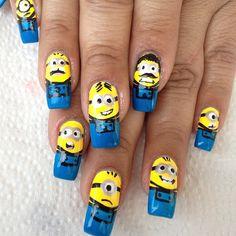 minion nail art #minions