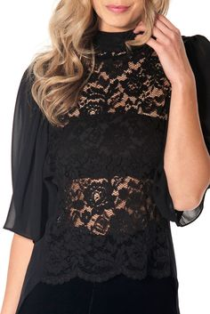 This damsel is not in distress. Save yourself from a multitude of wardrobe woes with this sleek, sheer and lacy reversible top. Because every Sophia James piece is hand made with love just for you, each garment will be unique and may vary slightly. Black Milk Clothing, Black Tops, Lace, Clothes, Collection, Women, Fashion, Black Tank Tops, Outfit