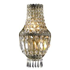 Shop for Metropolitan 3 light Antique Bronze Finish with Clear Crystal Wall Sconce and more for everyday discount prices at Overstock.com - Your Online Home Decor Store!