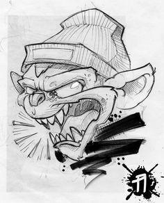 fast pen + marker sketch
