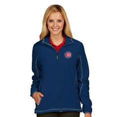 Chicago Cubs Women's Royal Ice Jacket  #ChicagoCubs #Cubs #FlyTheW #MLB SportsWorldChicago.com