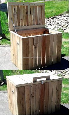 recycled pallets Trash Bin