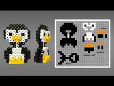Cute 3D Perler Bead penguin pattern. Laceys Crafts is all about sharing super simple and adorable crafts for kids. Enjoy!