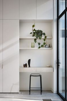 Batvia South Yarra sees Robson Rak bring a well-honed approach to authenticity, preservation and repurposing of heritage architecture. Office Nook, Hallway Office, Study Nook, Built In Wardrobe, Pax Wardrobe, Wardrobe Design, The Design Files, Classic Interior, Suites