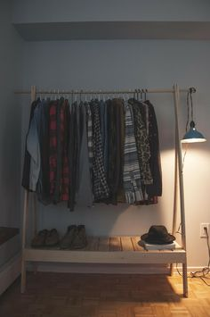 ten zero nine: DIY Wooden Clothes Rack