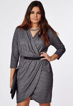 Plus Size Jersey Wrap Dress - Plus Size Dress (up to size 20)