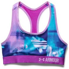 Shop Under Armour for Girls' UA HeatGear® Armour Printed Sports Bra in the Girls Bras department. Girls Sports Bras, Cute Sports Bra, Nike Under Armour, Under Armour Girls, Cheer Outfits, Sport Outfits, Cute Bras, Athletic Outfits, Athletic Gear