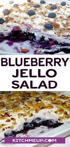 BLUEBERRY JELLO SALAD #dessert #salad #blueberry #jello #slimmingworld #weightwatchers #lowcarb #keto #glutenfree #dairyfree #paleo #healthyfood #food