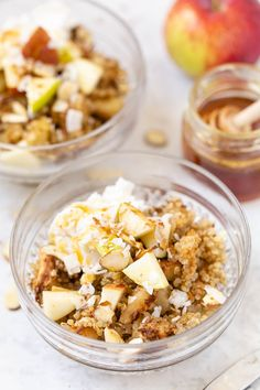 This healthy quinoa breakfast bake is studded with fresh apples and cinnamon. It's also naturally gluten-free, vegan, naturally sweet and high in protein!