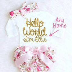 This Baby Girl Coming Home Outfit Newborn Girl Take Home Outfit Personalized Baby Girl Clothes Summer Boho Baby Clothes is just one of the custom, handmade pieces you'll find in our clothing sets shops. Girls Coming Home Outfit, Take Home Outfit, Baby Outfits, Boho Birthday, Summer Birthday, Vintage Birthday, Mermaid Birthday, Girl Birthday, Winter Girl
