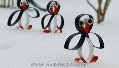 activité avec des rouleaux de sopalin pingouin