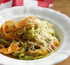 Rezept der Woche: Möhrennudeln mit Bärlauch-Pesto