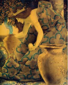 Maxfield Parrish. Queen Gulnare of the Sea Summoning her Relations, 1906    i…