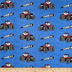 Case IH Kid's Denim Allover Blue from @fabricdotcom  Licensed by Case IH to Fabrique Innovations, Inc., this cotton print fabric is perfect for quilting, apparel and home decor accents. Colors include red, white, blue, black and grey. This is a licensed fabric and not for commercial use.