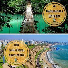 @Regrann from @turistukeando -  Buenas noticias!  Se vienen promos.  1)) 2x1 Costa Rica  Salidas: Lunes y viernes Saliendo desde Caracas Hasta el 27 de Febrero.  2)) Nueva Ruta aérea  A Lima- Perú  Saliendo desde Valencia. A partir del 3 de abril 2017. Dias: Lunes Jueves y Viernes.  Reservaciones: turistukeando@gmail.com Info@turistukeando.com Teléfonos:  0295 4171343/ 0212 4240881  Whatsapp: 58 412 7050963/ 414 1542963/ 58 412 3926913  http://ift.tt/1iANcOy  #YoViajoLuegoExisto…