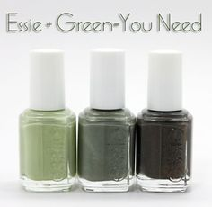 Maybe because March is almost here but I love these green nail polishes