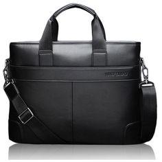 ef27db3aca8a Men PU Business Casual Black Brown Shoulder Messenger Bag Handbag ( 3) ❤  liked on