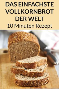 Einfaches Vollkornbrot Rezept Gesund und ohne Weizen The employees, those wi. - Einfaches Vollkornbrot Rezept Gesund und ohne Weizen The employees, those with limited time, th - Healthy Bread Recipes, Easy Cake Recipes, Quick Recipes, Baking Recipes, Baking Desserts, Healthy Baking, Healthy Nutrition, Chocolate Cake Recipe Easy, Chocolate Recipes