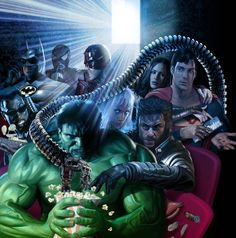 Super Heroes Movies by Greg Horn